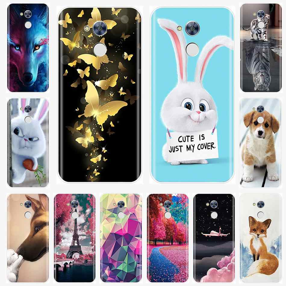 Phone Case For Huawei Honor 6A 6X 6C Pro Soft Silicone TPU Cute Painted Back Cover For Huawei Honor 5C 5X 4C 4X  Case