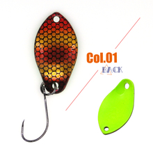 Tomic 2g 3g micro fishing lures ultralight trout spoons brass metal lures wobbler trout area pesca spinner hard baits