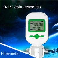 Digital 0 25L/min argon gas flow meter digital display flowmeter range: 0 25L/min F