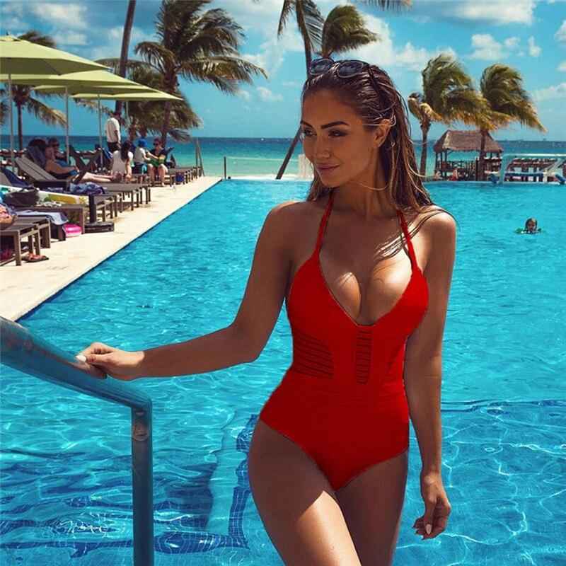 ผู้หญิงเซ็กซี่ Monokini One Piece Bikini ชุดว่ายน้ำ Biquinis ชุด ...