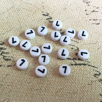 Free Shipping Lucky Number 7 Round Beads 3600PCS Lot 4 7MM Flat Coin Shape Jewelry Handmade