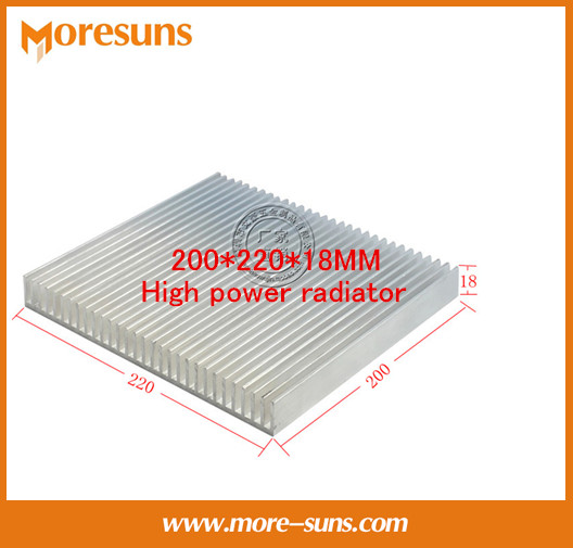 Fast Free Ship Pure aluminum radiator panels 200*220*18MM High power radiator 5pcs lot pure copper broken groove memory mos radiator fin raspberry pi chip notebook radiator 14 14 4 0mm copper heatsink