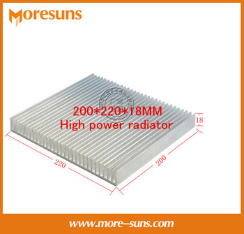 Fast Free Ship Pure aluminum radiator panels 200*220*18MM High power radiator