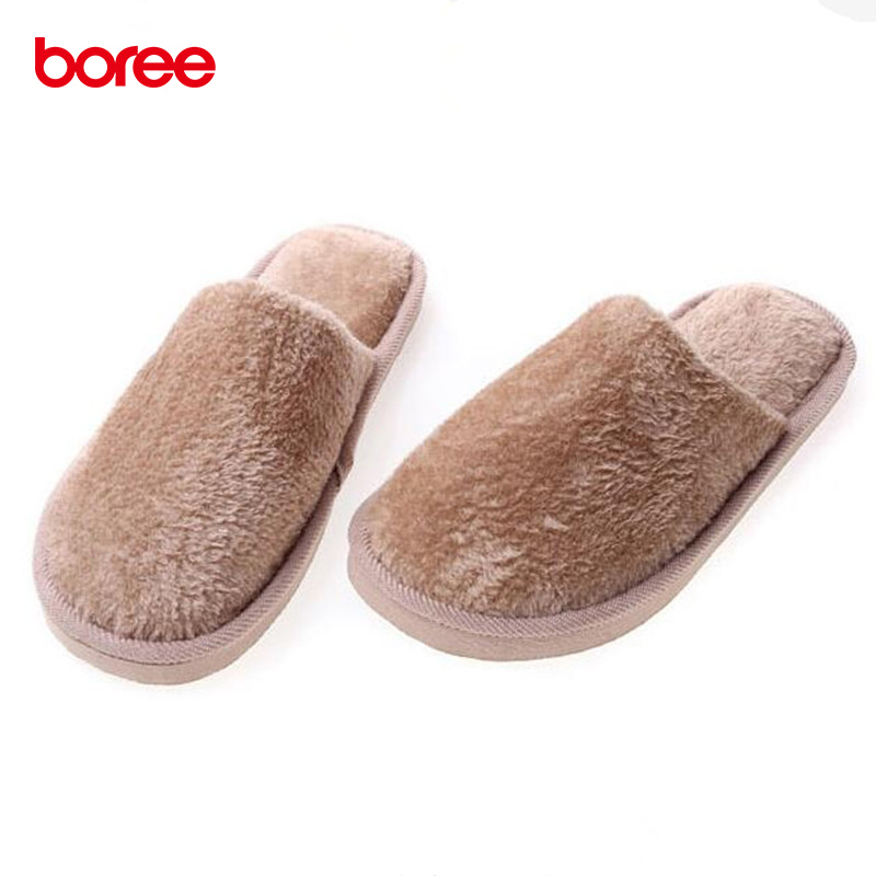 Boree Solid Cotton Slippers Fashion Women Men Home Shoes Non-slip Candy Color Cotton Drag Warm Home Slippers Bedroom Mujer 84 jianbudan 2017 new winter high quality cotton shoes men and women indoor warm slippers non slip mute home cotton drag