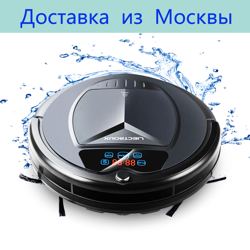 (Ship From RU)LIECTROUX B3000PLUS Robot Vacuum Cleaner,with Water Tank,Wet&DryLCDTouchScreen,withTone,Schedule,SelfCharge,Remote купить в Москве 2019