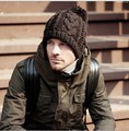 Beanie Special Offer Acrylic Adult Casual Solid Winter cap 2016 New Word Twist Nagymaros Beanie Cap Knitted Hat Men's Male