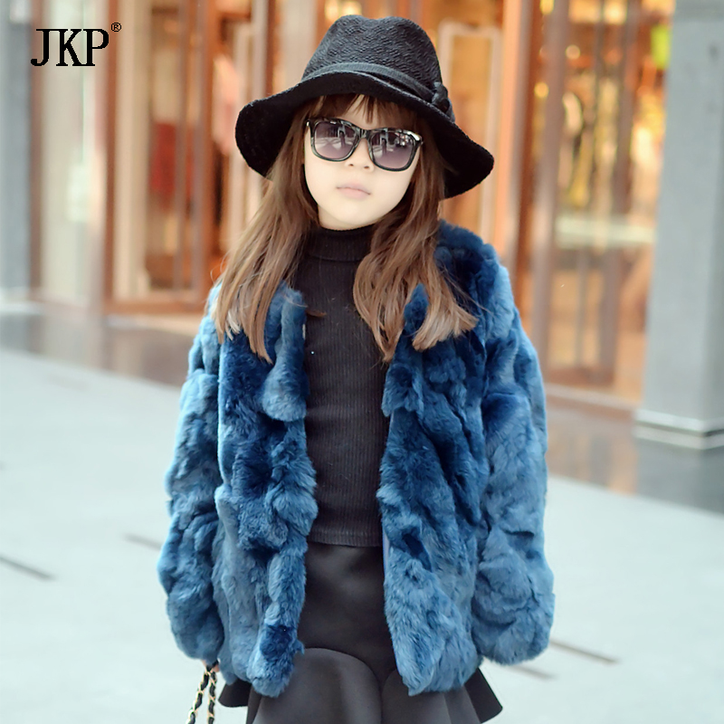 2018 Kids Real Rabbit Fur Coat Children Winter Natural Rabbit Fur Coat Jacket girls Fur Outerwear Clothing children real crystal fox fur coat 2017 new autumn winter girls boys natural fur coat clothing warm kids thicken jacket