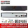 4Ch 8Ch 1080 P Red CCTV ONVIF 16Ch NVR 960 P HDMI de Salida grabador P2P Nube de IOS Android View Para Cámara IP Onvif 720 P/1080 P