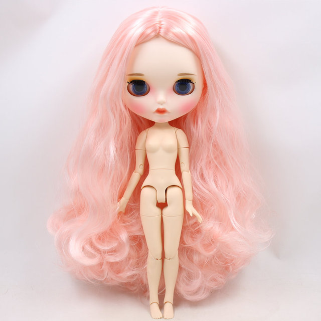 ICY Neo Blythe Doll Pink White Hair Jointed Body 30cm