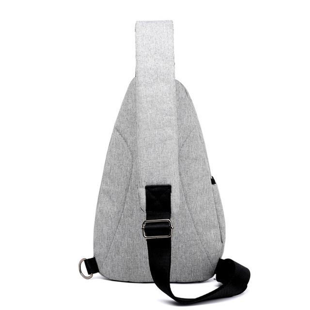Nylon Waterproof Men Bags External Earphone Plug