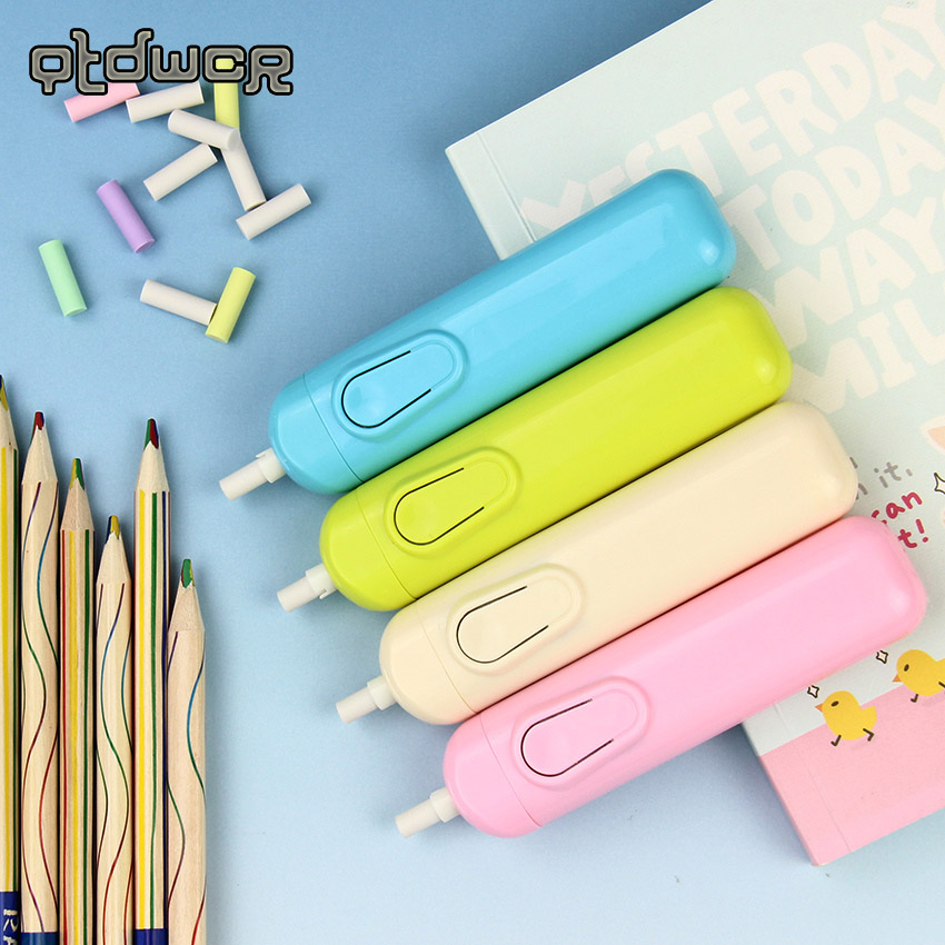 1PC New Creative Lazy Writing Drawing Pencil Eraser Automatic Electric Eraser Child School Stationery Gift