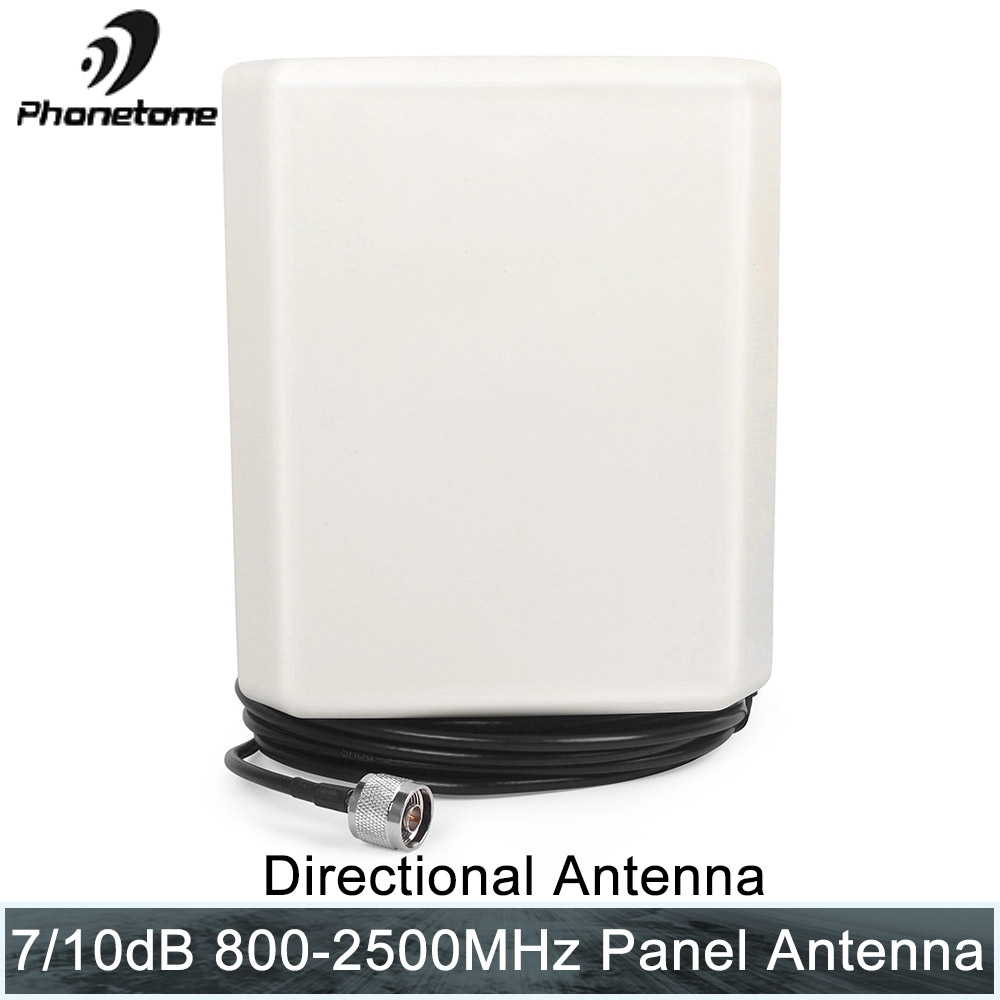 4G Outdoor Antenna <font><b>2G</b></font> 3G 4G LTE Panel antenna 800-2500 10dB with N-male 10m cable for cell phone signal booster <font><b>repeater</b></font> antenna image