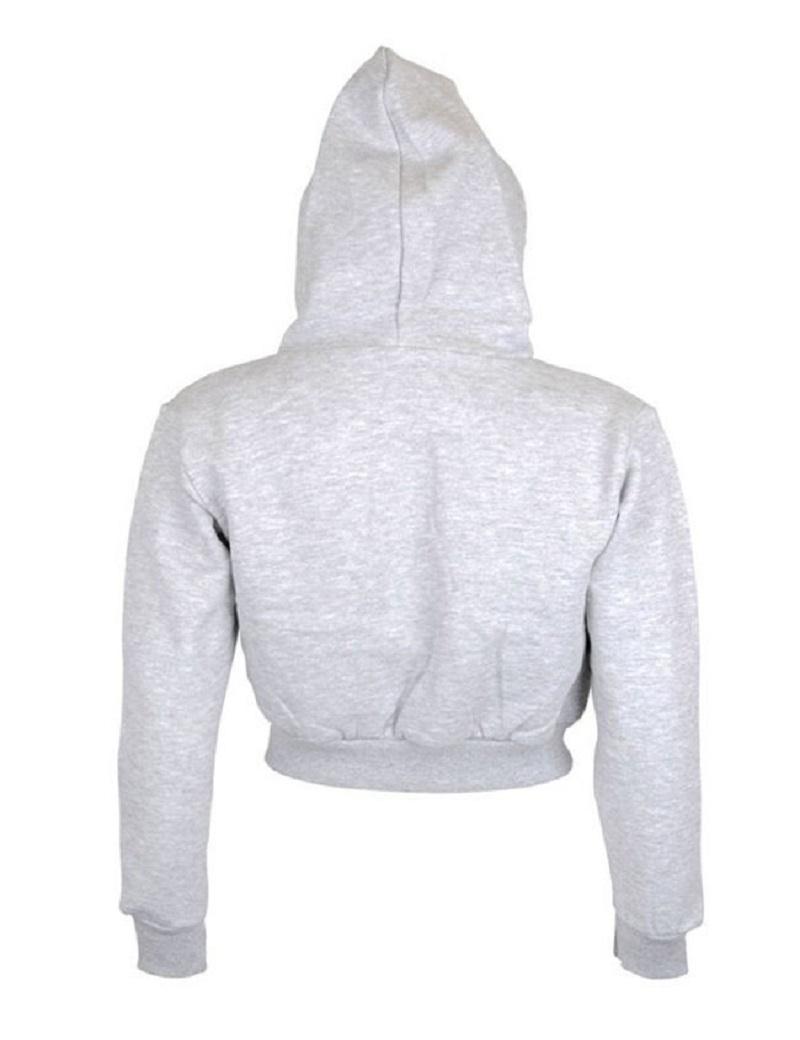 Fashion Women Sweatshirt 19 Hot Sale Hoodies Solid Crop Hoodie Long Sleeve Jumper Hooded Pullover Coat Casual Sweatshirt Top 9