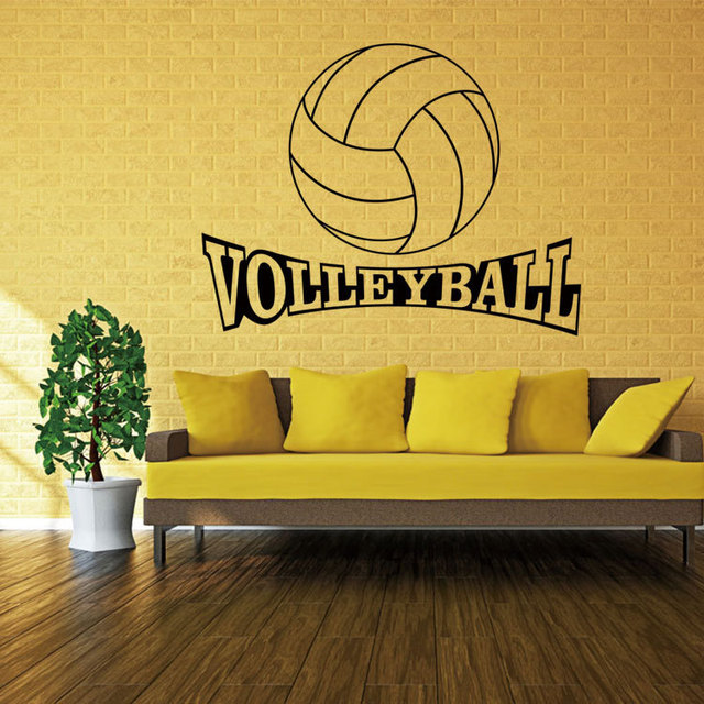 Volleyball hit wall stickers can remove waterproof stick The sitting ...
