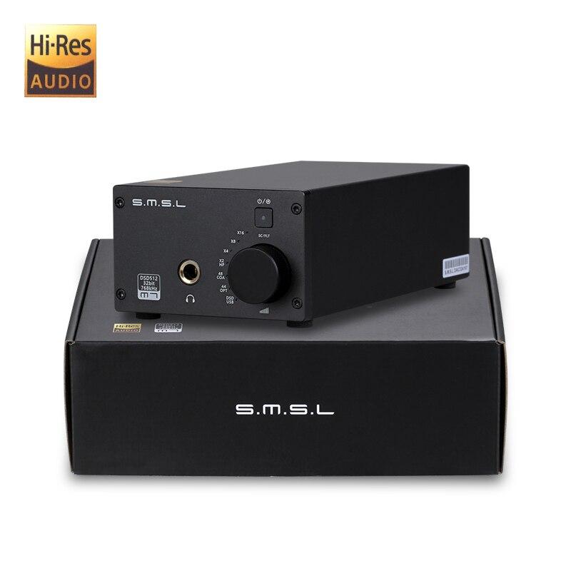 SMSL M7 2xAK4452 32Bit 768KHz DSD512 Hifi Audio USB DAC with Headphone Amplifier