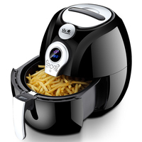 220V Multifunctional LCD Electric Deep Fryer Oil Free Smokeless Auto Electric Air Fryer French Fries Machine EU/AU/UK/US Plug