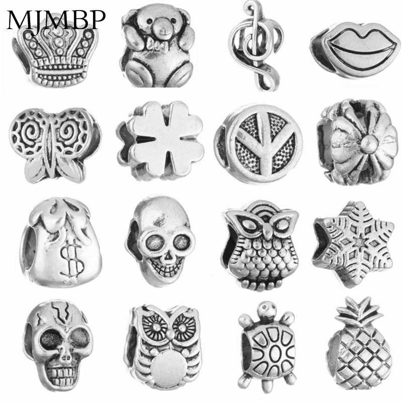 More Styles Retro Cute DIY Fine Charms Nice Fashion Beads Fit Pandoraa Gift For Bracelet & Necklaces Jewelry making Women Gifts