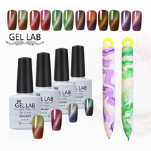 GEL LAB 10ml Temperature Changing + Cat's Eye Gel Nail Polish + 1 Pcs Magnetic Pen in Random Color Choose 1 From 30 Colors