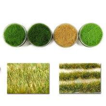 4 ボトル 35 グラム 12 ミリメートル静的草粉末混合色グリーン草粉末フロックため草マットモデル鉄道レイアウト CFA4