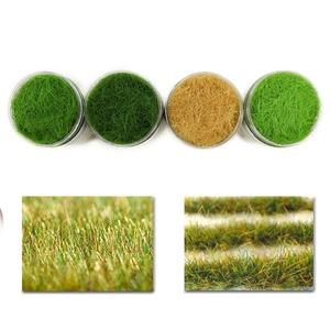 Image 1 - 4 בקבוקי 35g 12mm סטטי דשא אבקת מעורב צבעים ירוק דשא אבקת צאן דשא מחצלת דגם רכבת פריסה CFA4