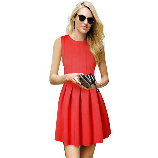 Aliexpress.com : Buy casual dress red Young Style Women O Neck A ...