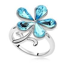 Уникальные Модные кольца с кристаллами Сваровски аксессуары
