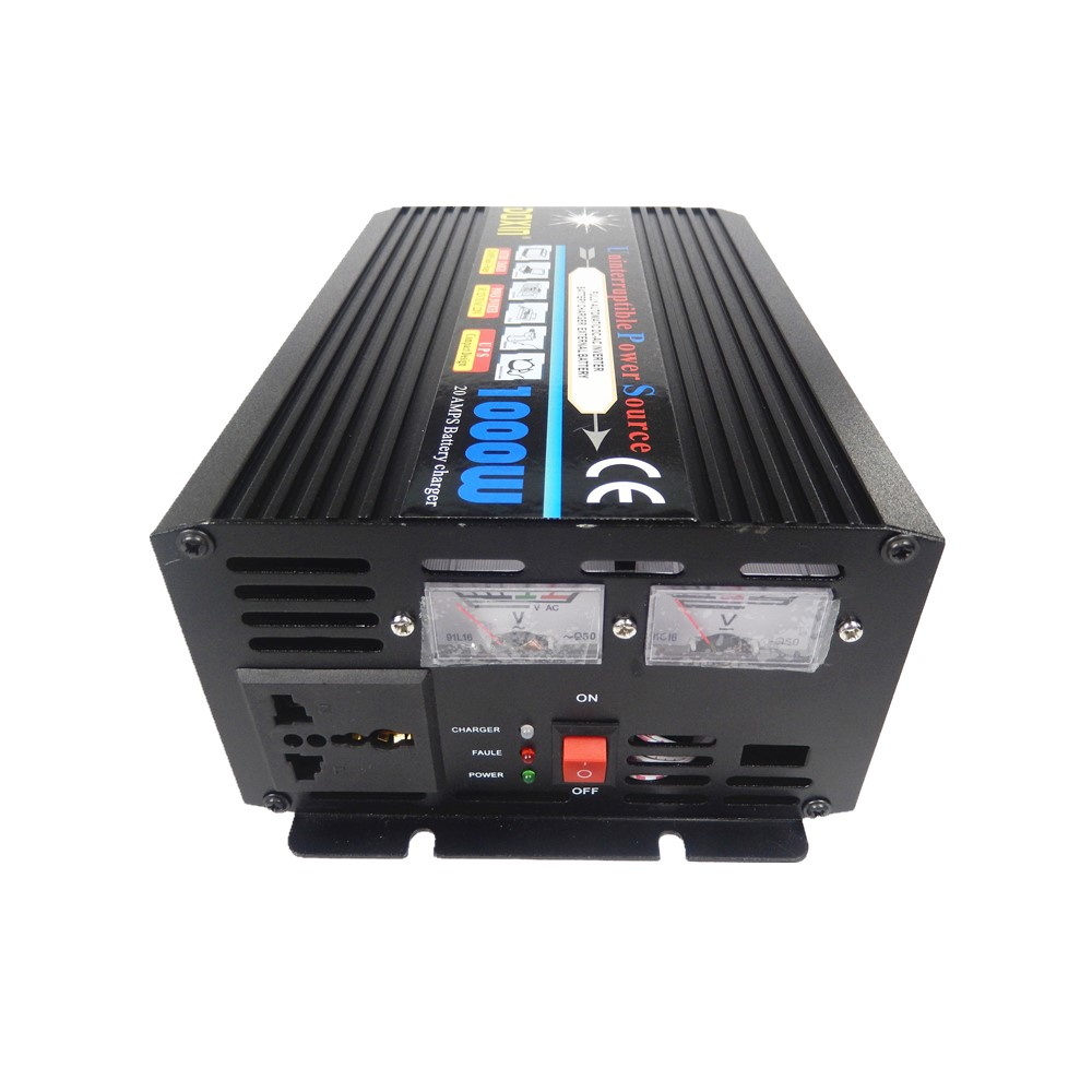 UPS 1000W DC 12V to AC 220V Portable Car Power Inverter with battery charging function Voltage Converter 12V To 220V Transformer
