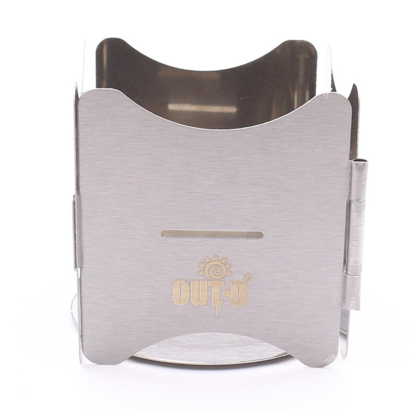 Out-D Stove Stand for Camping Picnic Cooker Frame Folding Solid Alcohol Stove Rack Stove Accessories Out-DB15