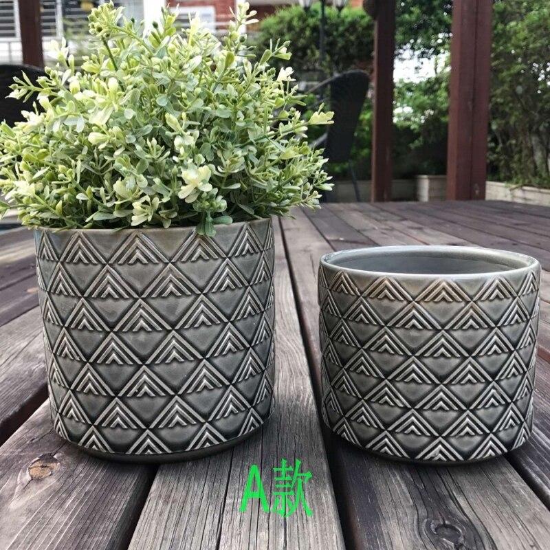 Creative square cement succulents flower pot silicone mold clay crafts home decoration vase mold polygon concrete