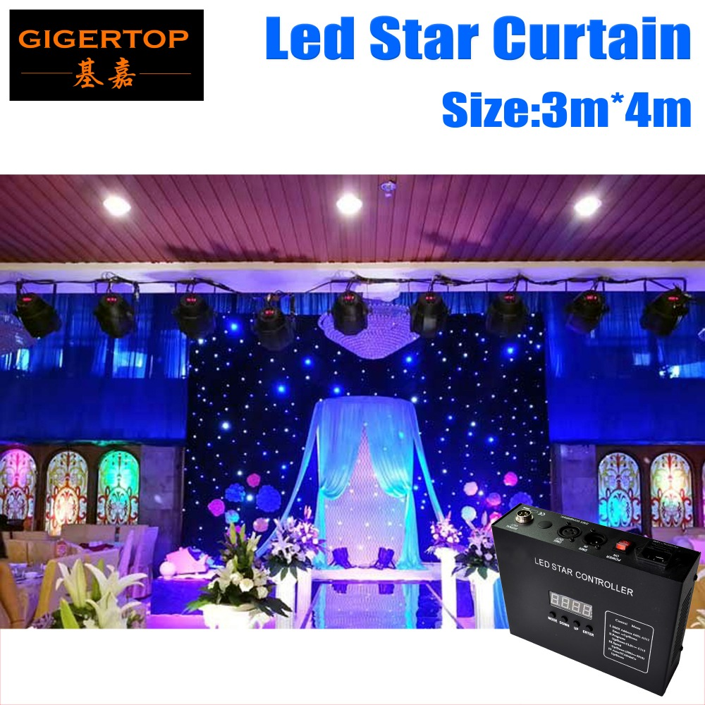 3M 4M Led Star Curtain 240pcs Color Mixing RGB RGBW For Stage Background LED Backdrops LED
