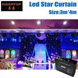 3 M * 4 M kurtyna świetlna LED z motywem gwiazd 240 sztuk mieszania kolorów RGB/RGBW LED w tle z tła LED kurtyny ekran