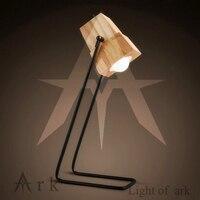 Arche licht kreative led holz tischlampe kurze nachttischlampe dekoration lesen Stil schreibtisch beleuchtung