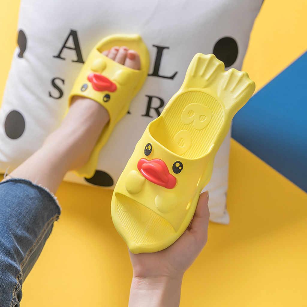 女性屋内かわいいかわいいアヒルのスリッパの靴女性のファッションシャワーサンダル靴スリッパ Zapatos デ Mujer Sandalen