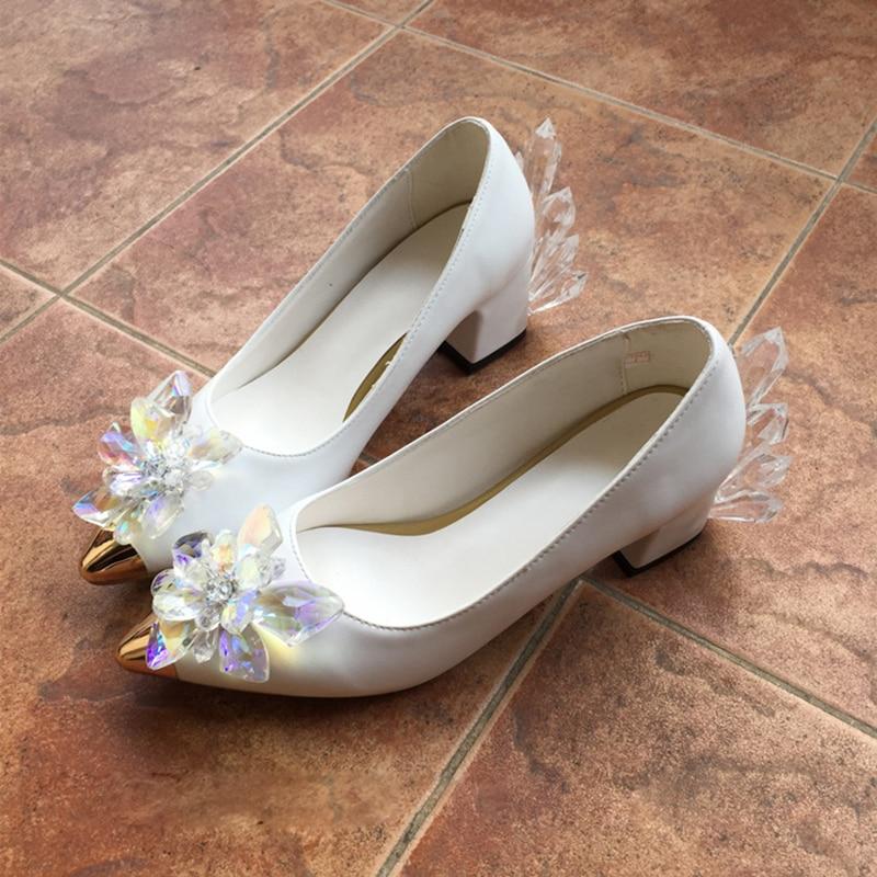 Captor Sakura White Crystal Shoes High Heel Shoes 32 45 Anime Card