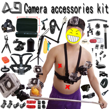 A9 for Gopro Accessories set for go pro hero 5 4 3 kit mount for SJCAM SJ4000 / xiaomi yi / eken h9 / sony action cam tripod