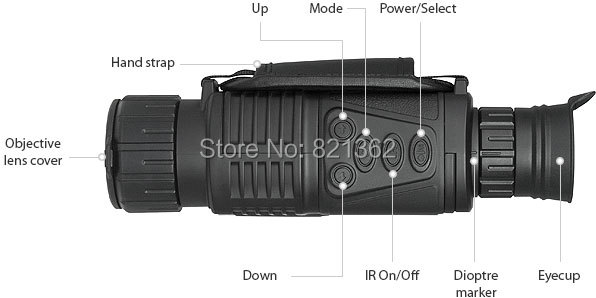 gravador de vídeo visão noturna óptica