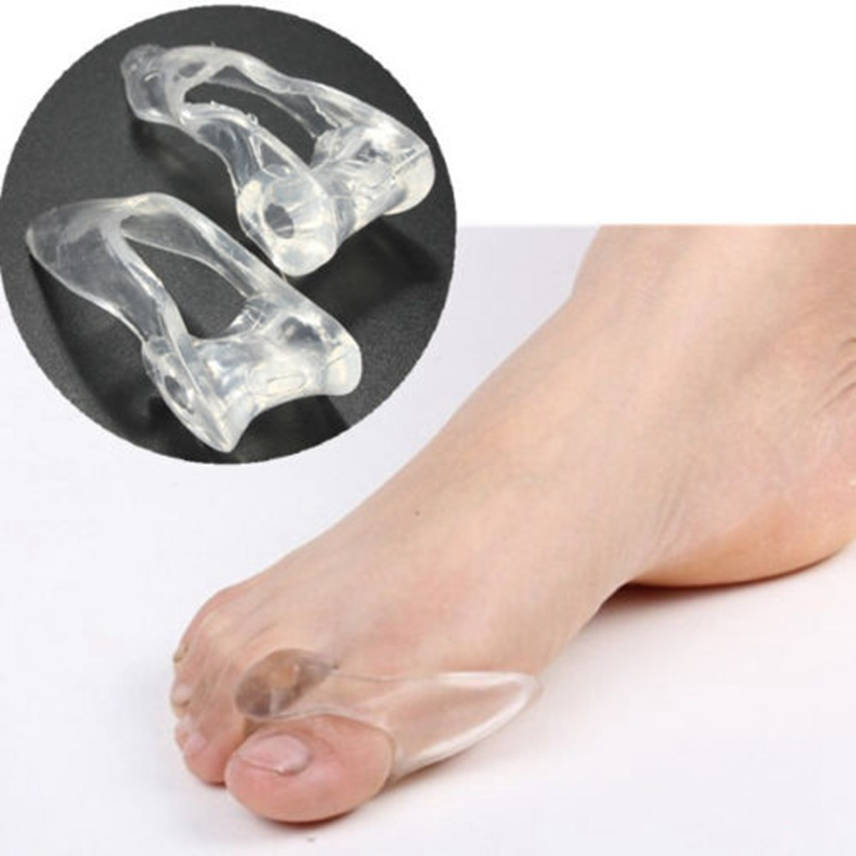 BSAID 1 Pair Foot Toe Separator Thumb Valgus Protector Bunion Adjuster Gel Silicone Soft Toes Corrector Pads  Shoe Insert Insole