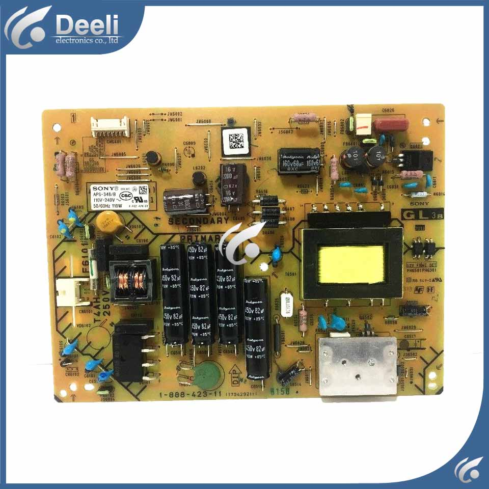 Working 95% NEW baord power board APS-348B KLV-32R421A 1-888-423-21 1-888-423-12 1-888-423-11 original kdl 55w800a power supply board 1 888 356 11 1 888 356 31 aps 342 b