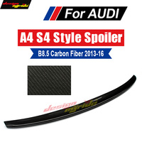 Fits For Audi A4 B8.5 wing Rear Spoiler True Carbon fiber S Style A4 A4Q A4A B8.5 Rear Trunk Spoiler wing Glossy black 2013 2016