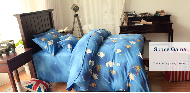 Boy Blue E Wall Cartoon Children Baby 4 Pcs Bedding Set Duvet Quilt Cover In Sets From Home Garden On Aliexpress Alibaba