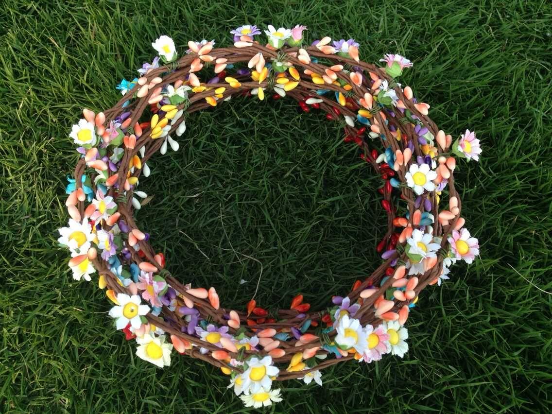 (4 adet / grup) Bohem Stili Çelenk Çiçek Taç Düğün Garland - Tatiller ve Partiler Için - Fotoğraf 3