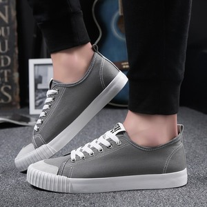 Image 5 - WOLF WHO New Gray Sneakers Men canvas Lace up Casual shoes Male Breathable Espadrilles Man Plimsolls buty meskie krasovki X 065