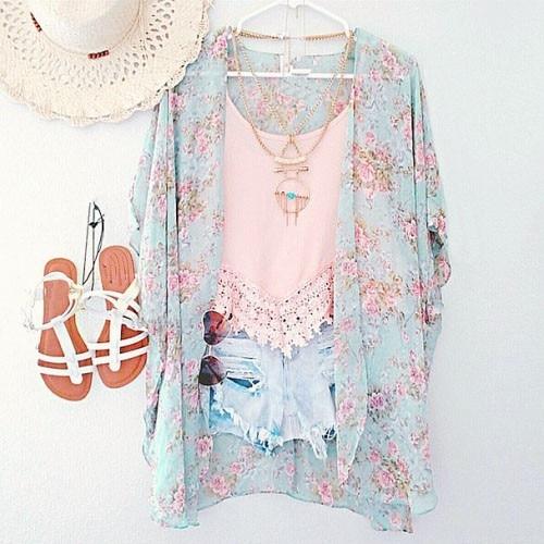 New arrivals 2017 women blouses plus sizes floral cardigan women tops chiffon batwing blouse kimono cardigan