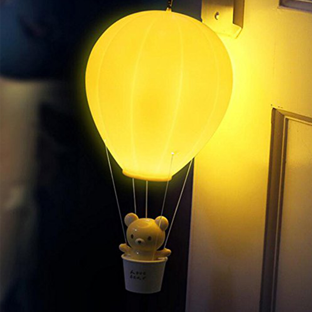 Dimmable Hot Air Balloon Led Night Light Children Baby Nursery Lamp With Touch Switch Remote Control Usb Rechargeable Wall