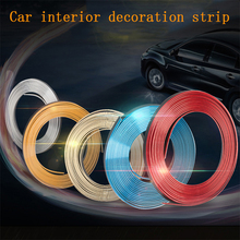 2 m/5 m interior Do Carro decoração Adesivos linha de console do painel da porta Gap modificação brilhante faixas Decorativas para BMW audi