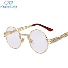 36f51ccec9 Gothic Steampunk Sunglasses Men Women Metal Wrap Eyeglasses Round Shades  Brand Designer Sun glasses Mirror High