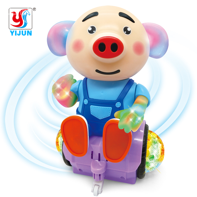 Electronic Smart Space Walking Dance Piglet Robot Toy with Music Light  Electric Musical Baby Toys Pet for Child Kids Gift