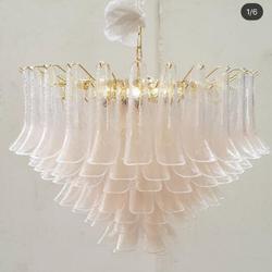 GIRBAN europejskie luksusowe dmuchane szkło płatek oświetlenie wewnętrzne LED home decor żyrandol światła żyrandole do salonu do sypialni