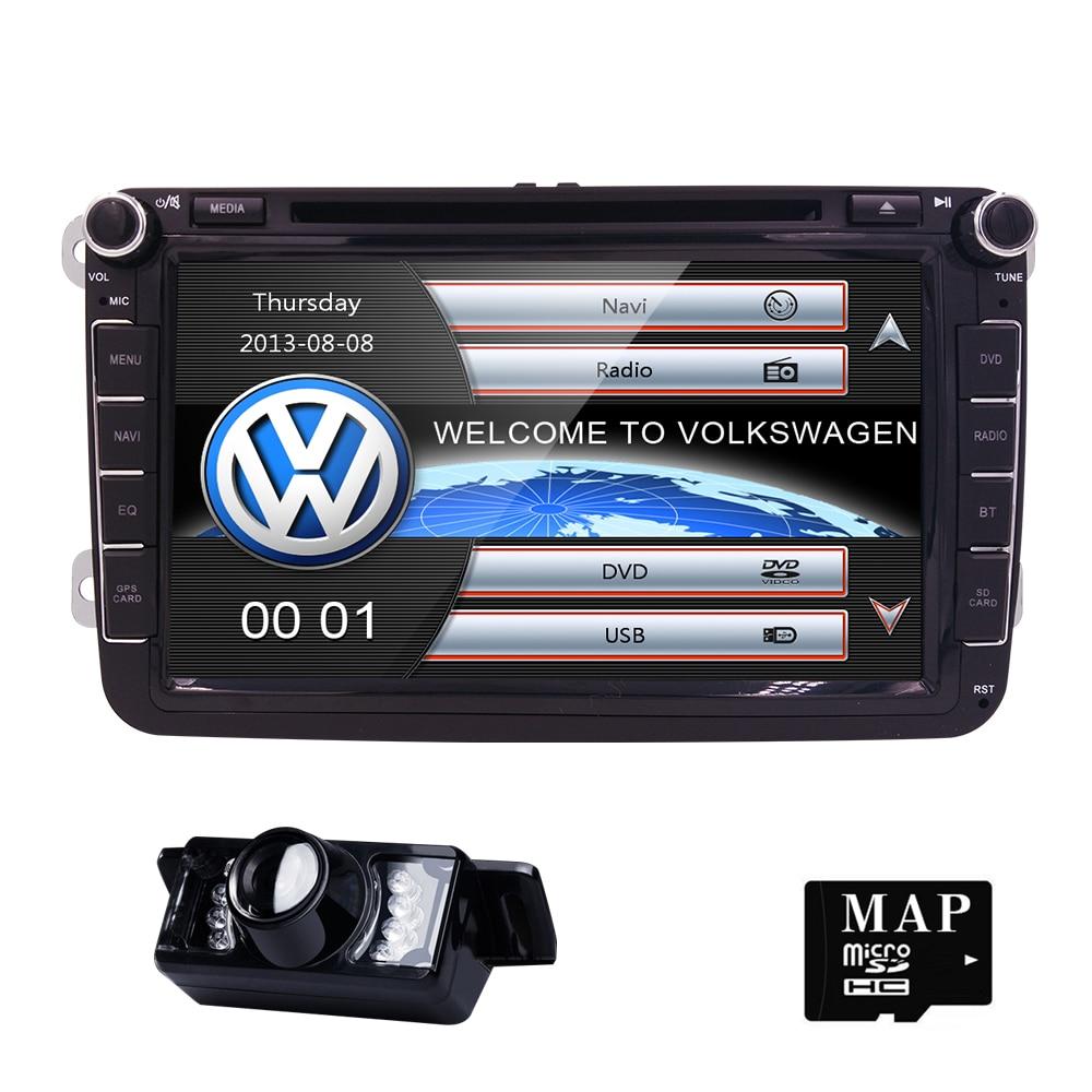 82Din Car DVD Player Radio GPS Navigation For VW Golf Polo Jetta Touran Mk5 Mk6 Passat B6 Stereo Bluetooth SWC RDS Mirror-Link ...