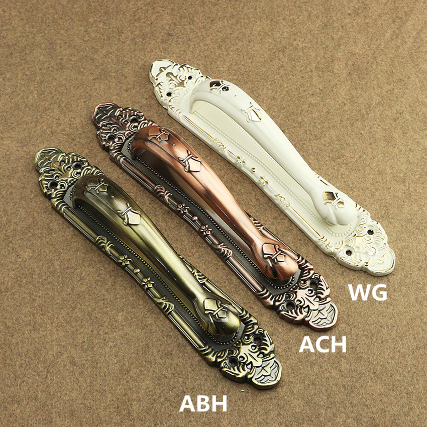 300mm european fashion ivory white wooden door handles bronze antique copper unfold install gangway double acting door handles european fashion ivory white bedroon door handles antique bronze mute wooden door lock gold indoor locks modern simple